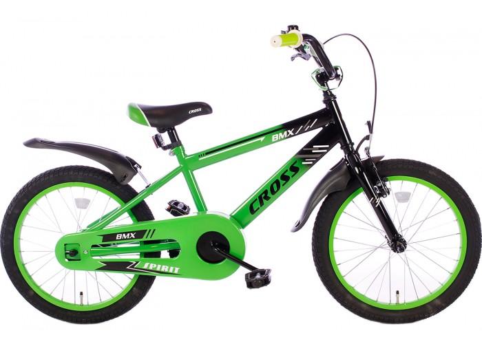 Spirit BMX Cross Groen 18 Inch Jongensfiets