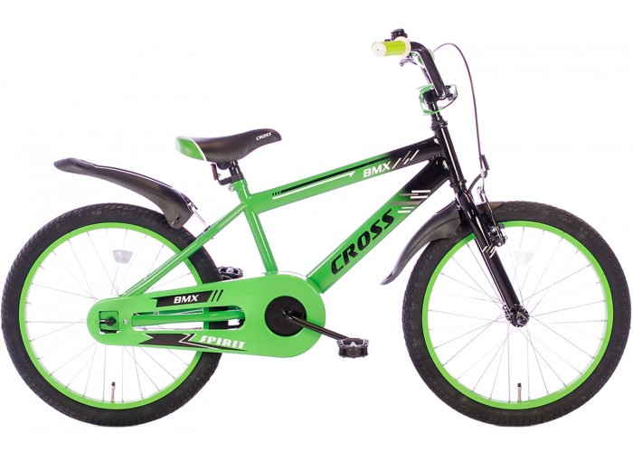 Spirit BMX Cross Groen 20 Inch Jongensfiets