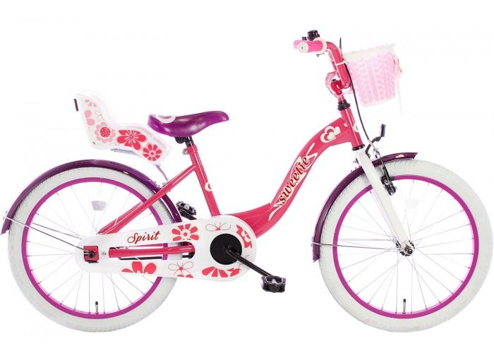 Spirit Sweetie Meisjesfiets Roze-Paars 18 inch