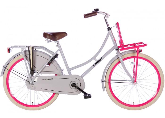 Spirit Omafiets Grijs-Roze 24 inch