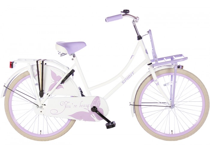 Spirit Omafiets Wit-Paars 24 inch