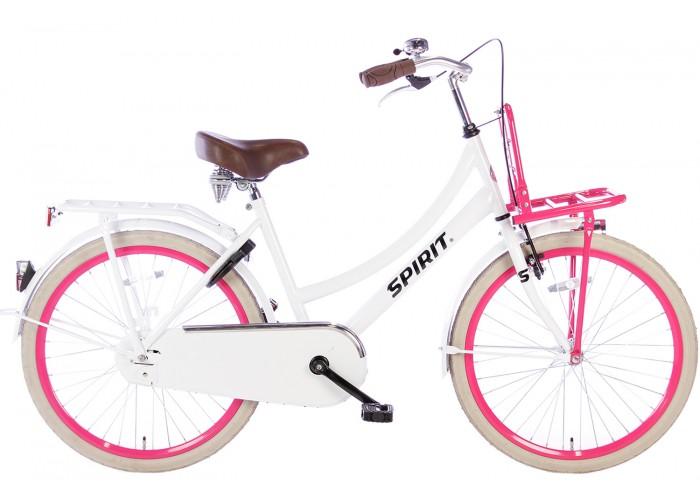 Spirit Cargo Wit-Roze Meisjesfiets 24 inch