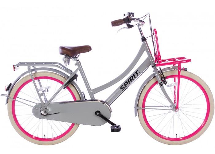 Spirit Cargo N3 Grijs-Roze Meisjesfiets 24 inch