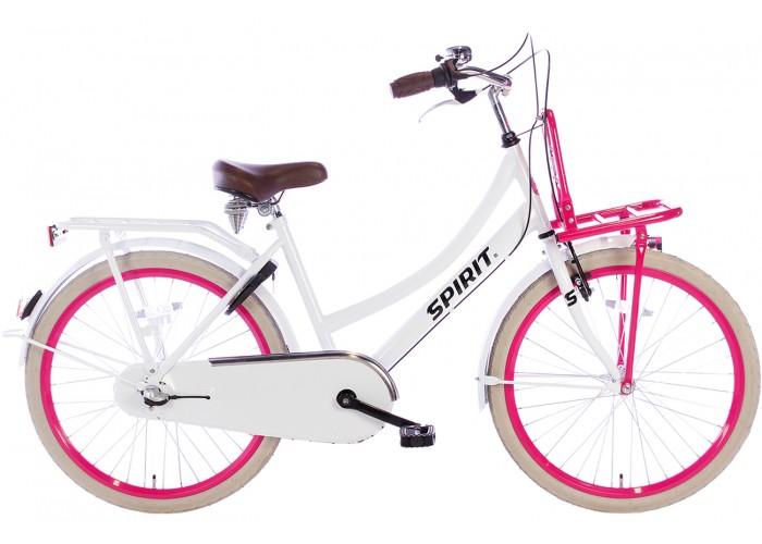 Spirit Cargo N3 Wit-Roze Meisjesfiets 24 inch