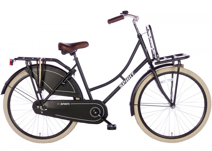 Spirit Omafiets Mat-Zwart 26 inch