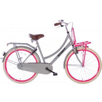 Spirit Cargo Grijs-Roze Meisjesfiets 26 inch