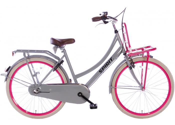 Spirit Cargo N3 Grijs-Roze Meisjesfiets 26 inch