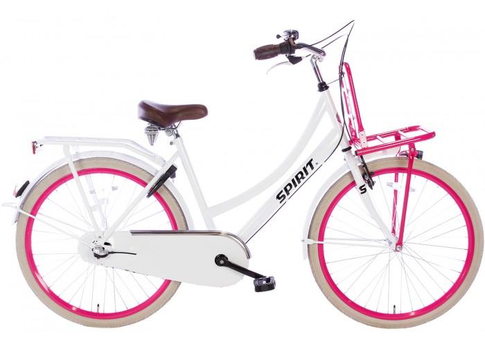 Spirit Cargo N3 Wit-Roze Meisjesfiets 26 inch