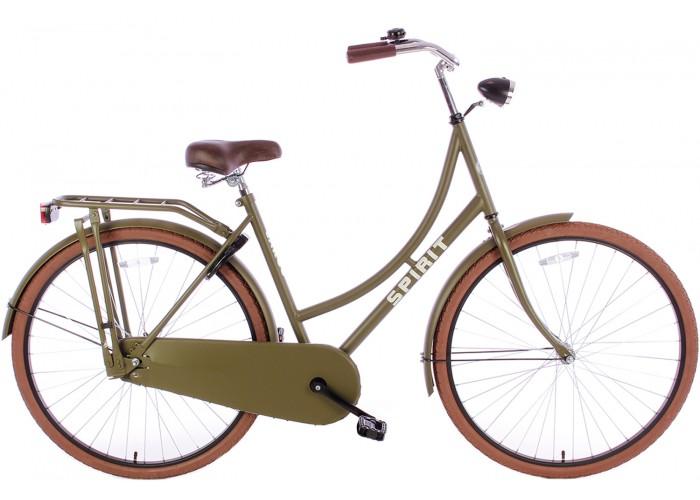 Spirit Omafiets Deluxe Mat-Groen 28 inch