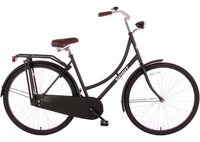 Spirit Omafiets Mat-Zwart 28 inch