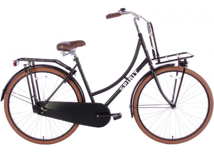 Spirit Omafiets Deluxe Plus Mat-Zwart 28 inch