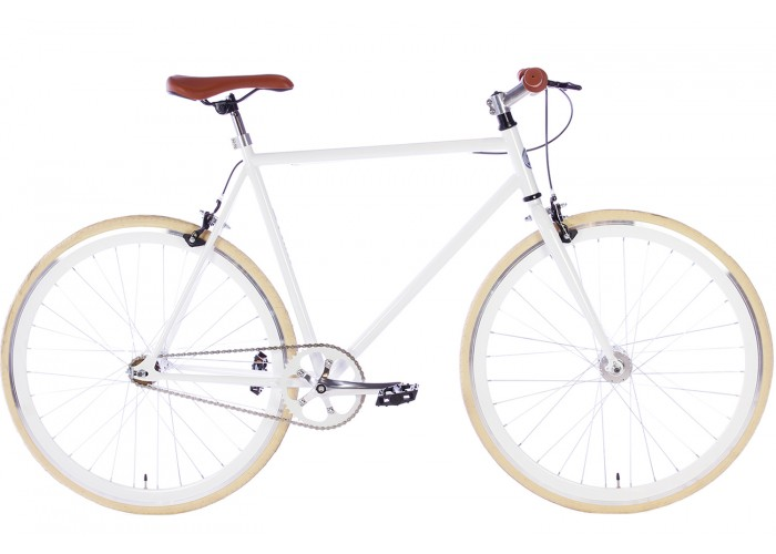 Spirit Fixed Gear Bike Wit herenfiets