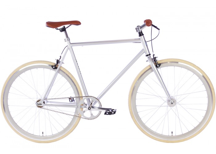 Spirit Fixed Gear Bike Zilver herenfiets