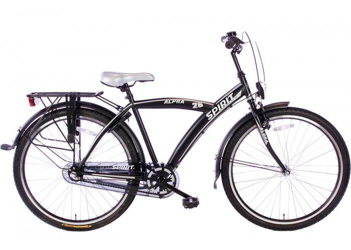 Spirit Alpha N3 Zwart Jongensfiets 26 inch