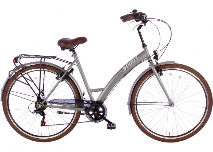 Spirit Damesfiets Avanti 6-Speed Mat-Grijs