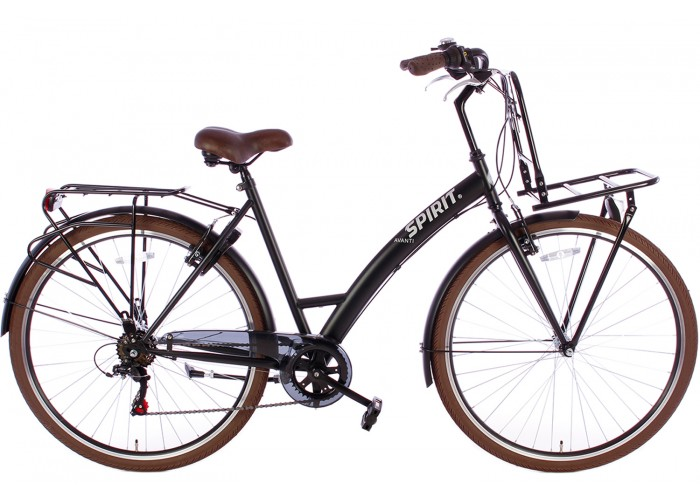 Spirit Damesfiets Avanti+ 6-Speed Mat-Zwart