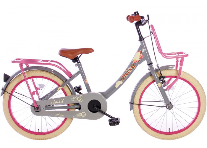 Spirit Daisy Meisjesfiets Grijs-Roze 22 inch
