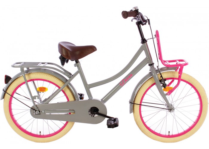 Spirit Diva Meisjesfiets Grijs-Roze 18 inch