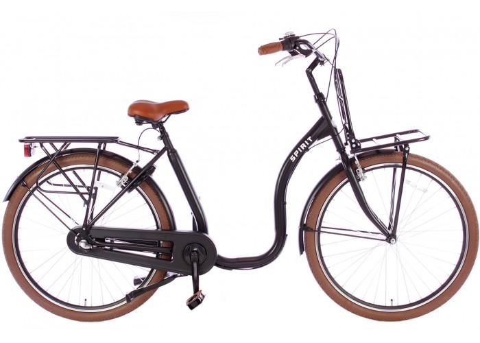 Spirit Easy Plus N3 Mat-zwart Lage instap fiets