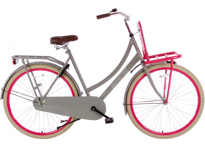 Spirit Transportfiets Grijs-Roze 28 inch