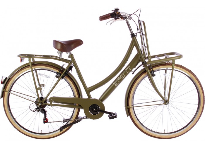 Spirit Transportfiets 6-Speed Mat-Groen 28 inch