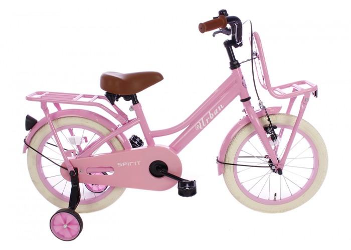 Spirit Urban Meisjesfiets Roze 14 inch