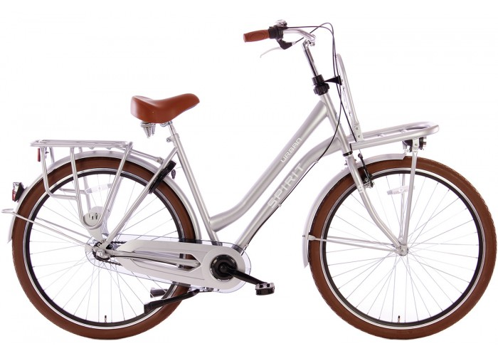 Spirit Urban Transportfiets N3 Mat-Grijs