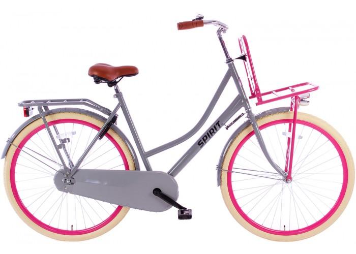 Spirit Omafiets 28 inch Plus Grijs-Roze