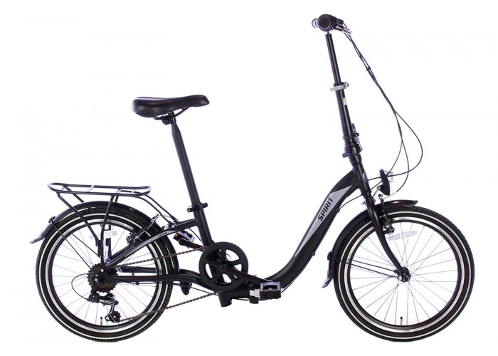 Spirit Vouwfiets Bend 6-speed Mat-Zwart